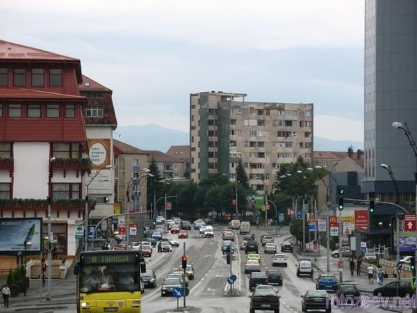 Оживленная улица Сибиу
