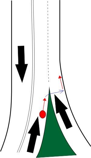 Опасный перекресток для велосипедиста