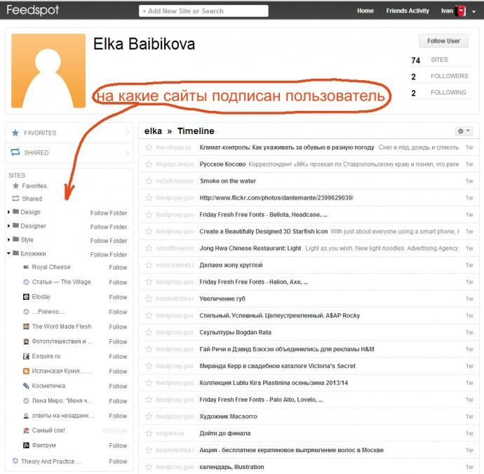 feedspot - кликнув по подписчику можно узнать, что он вообще читает