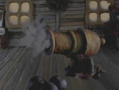 Пушка в мультфильме Падал прошлодний снег