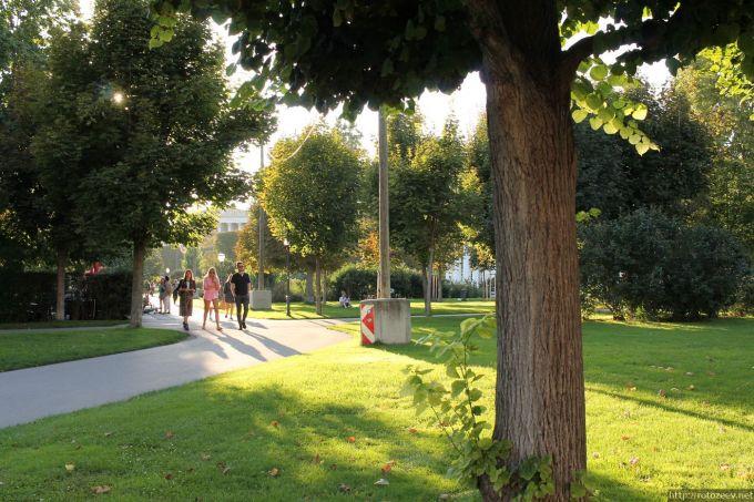 Парк в Вене