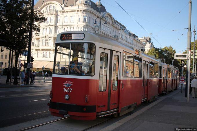 Центр Вены, трамвай