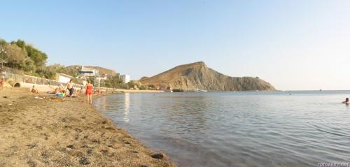 Главный пляж в Орджоникидзе