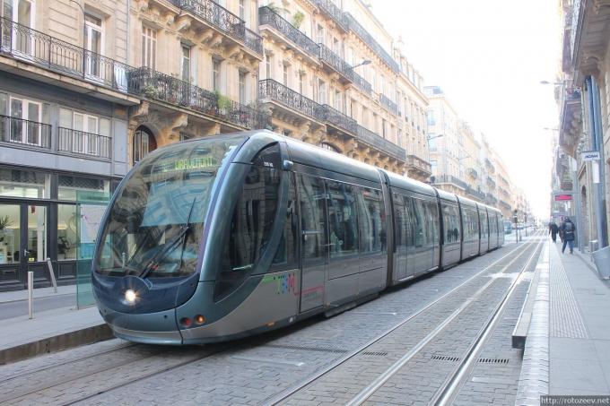 Бордо, Франция трамвай