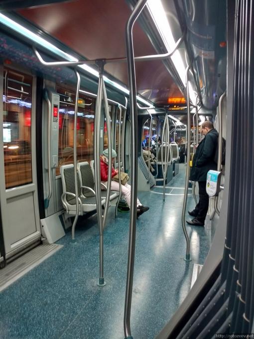 Бордо, Франция трамвай внутри