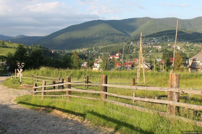 Carpathian mountains photo. Ukraine.