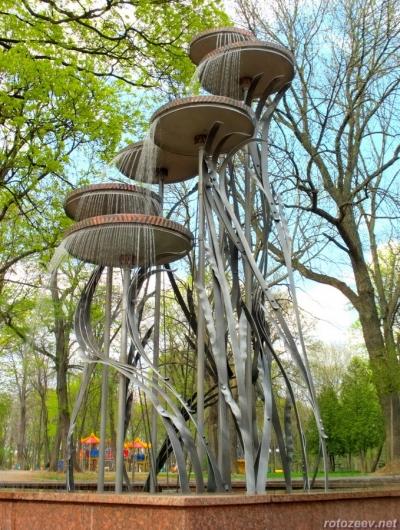 Фонтан в Молодежном парке