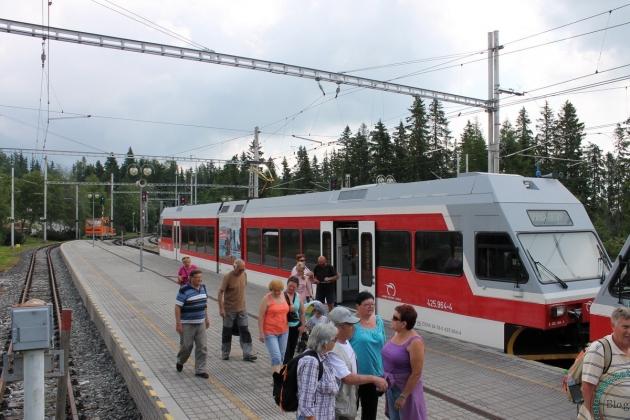 Горный поезд в Татрах