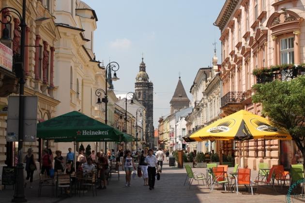 Пешеходная улица в Кошице