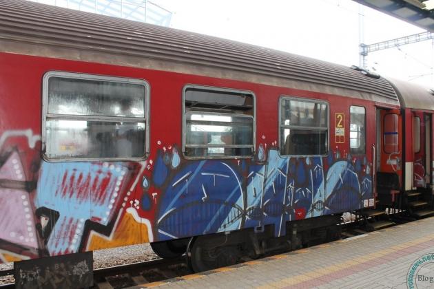 Поезда в Словакии обрисованы граффити