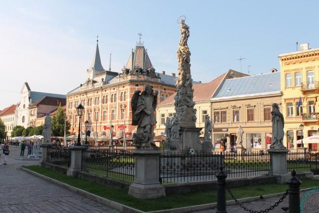 Скульптурная композиция в центре Кошиц