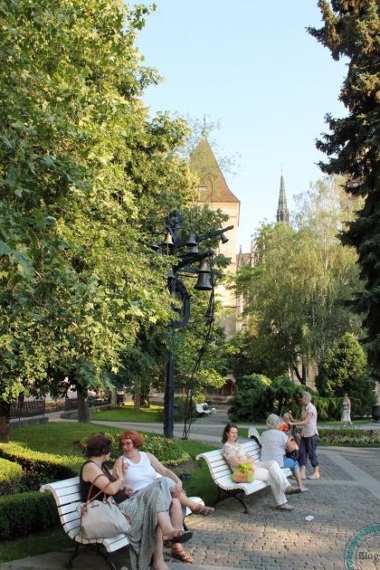 Сквер в центре Кошиц, Словакия