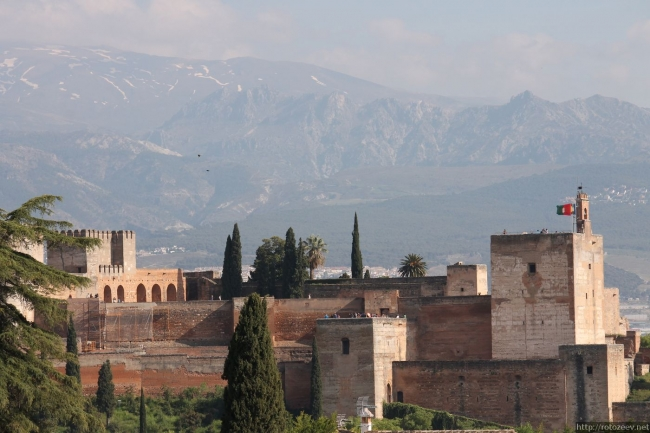 Альгамбра, Гранада. Вид.