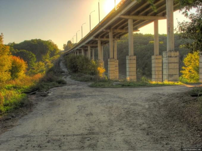 Дорога Чугуев - Печенеги. Мост в Кочетке