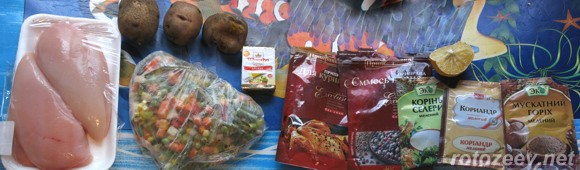 Мужская еда - куриное филе с овощами