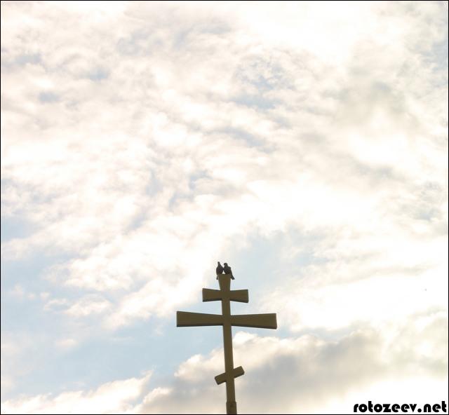 Голуби на кресте