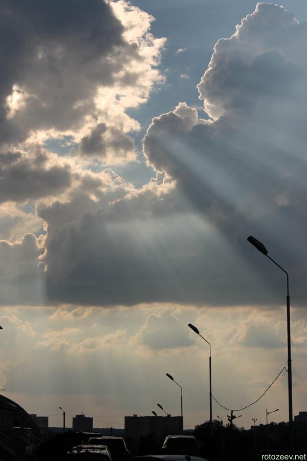 Фотография неба - солнечные лучи