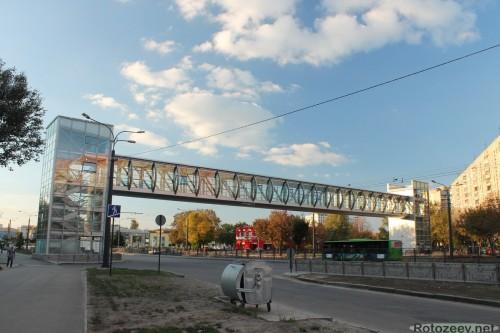 Пешеходный мост-переход на проспекте Гагарина