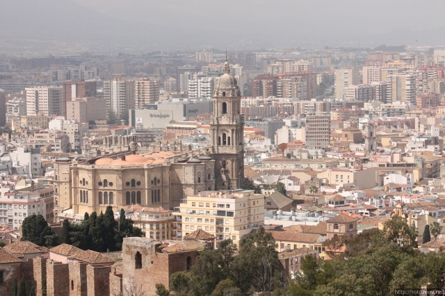 Малага - вид на город