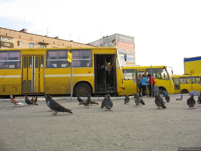Автовокзал в Чугуеве несколько лет назад
