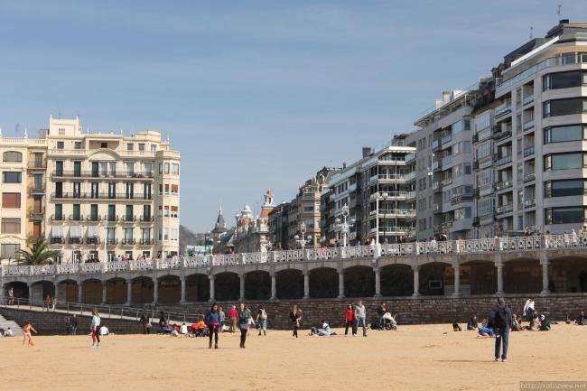 Сан-Себастьян пляж