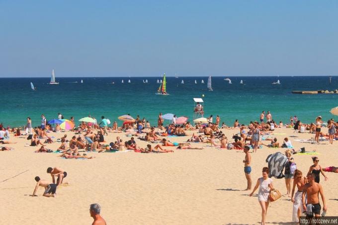 Пляж в Барселоне